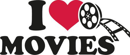 love movies: I love movies film reel