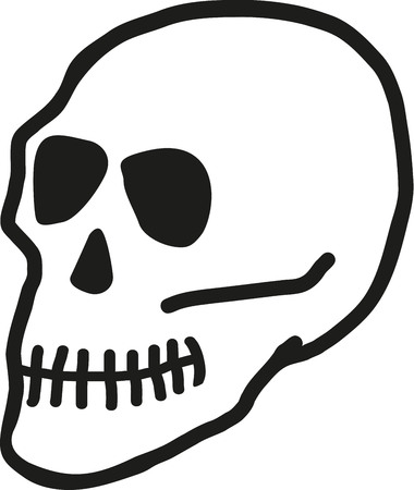 sideview: Skull sideview Illustration
