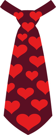 Carnival tie with hearts Illustration