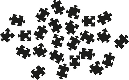 lots: Puzzle with lots of pieces Illustration