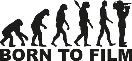 cameraman: Film cameraman evolution Illustration