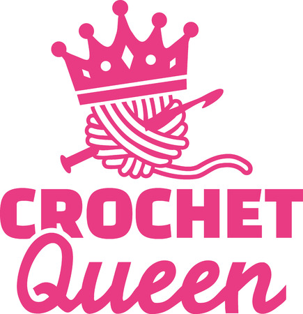 Crochet queen  イラスト・ベクター素材