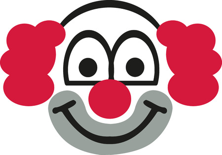 red hair: Clown head with red hair Illustration