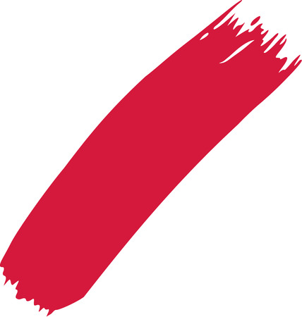 red stripe: Red stripe of paint