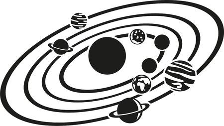 태양계 일러스트