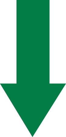 green arrow: Green arrow down