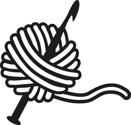629 crochet hook stock vector illustration and royalty free crochet rh 123rf com crochet clip art free for labels crochet clipart images