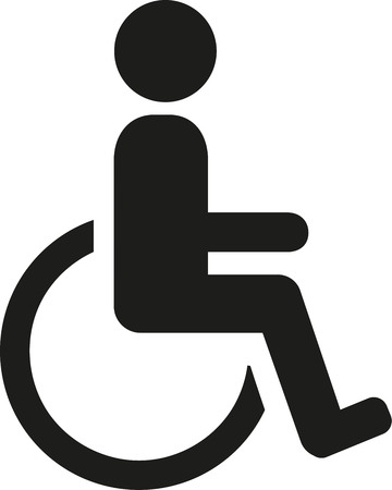 accessible: Wheelchair pictogram Illustration