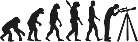 evolve: Astronomy evolution Illustration