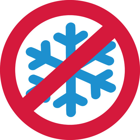 ban sign: Snow forbidden - snowflake in a ban sign Illustration