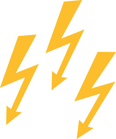 thunderbolt: Thunderbolt triple icon