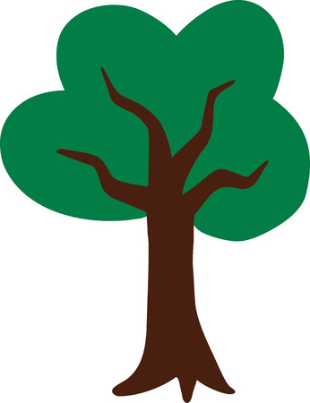 deciduous tree: Icon of a deciduous tree