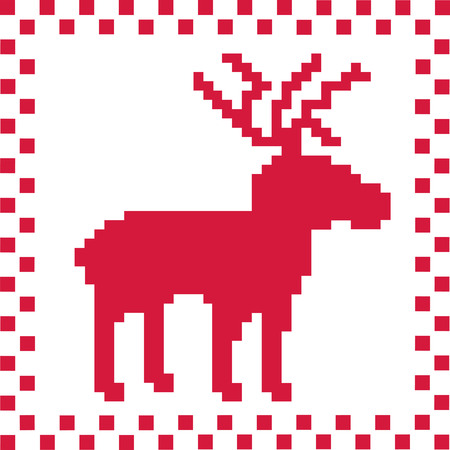 norwegian: Deer with norwegian pattern texture