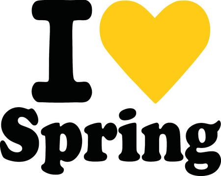 spring: I love spring Illustration