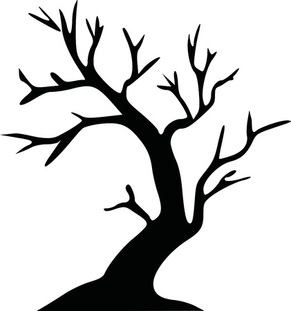 broadleaf: Leafless tree halloween tree Illustration