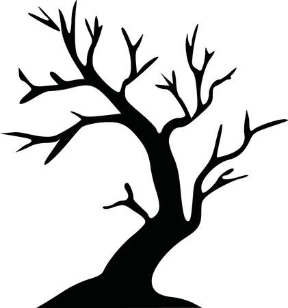 Leafless tree halloween tree Illustration