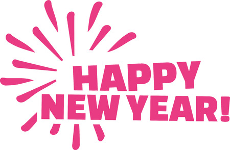 turn of the year: Happy new year lettering