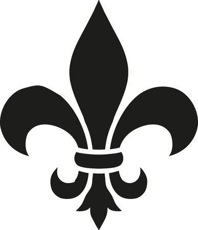 Fleur de lis icon Illusztráció