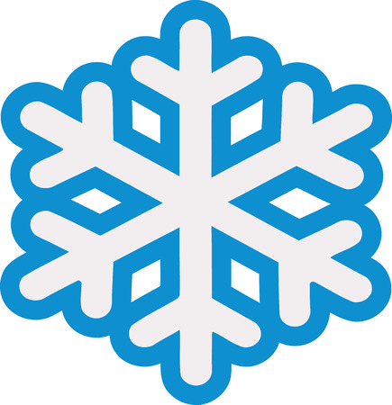 flake: Snow in two colors with outline
