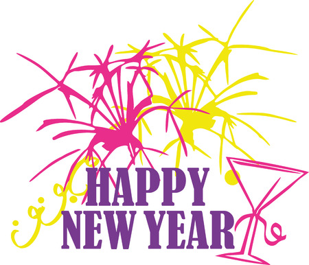turn of the year: New years eve with happy new year font