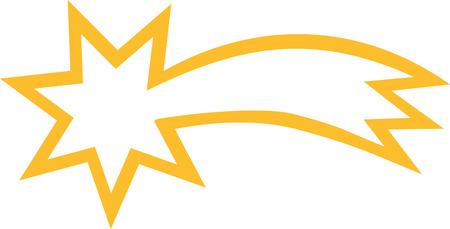 falling star: Falling star symbol