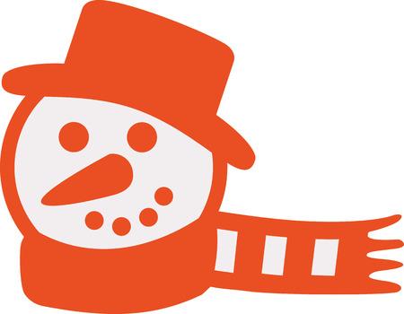 head scarf: Orange Snowman head with scarf
