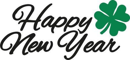 Happy new year with shamrock