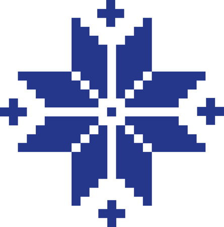 norwegian: Norwegian pattern star Illustration
