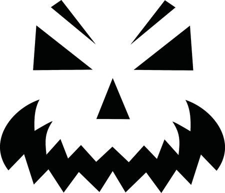 jack o' lantern: Pumpkin face - Jack o Lantern Illustration