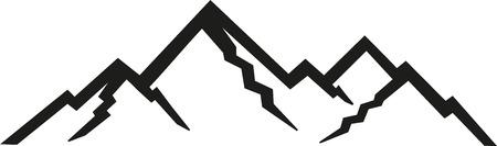 peak: Mountains peak silhouettes