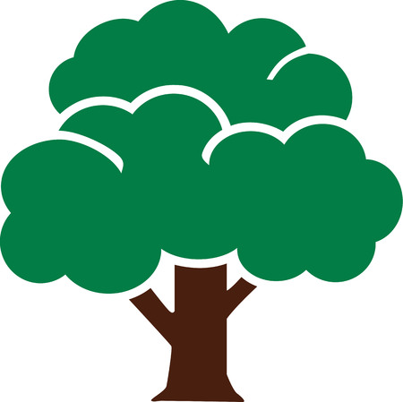 broadleaf: Tree icon pictogram