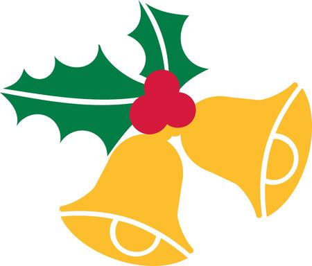 Weihnachtsglocken mit Stechpalme
