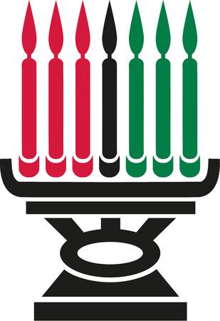 candleholder: Kwanzaa candleholder
