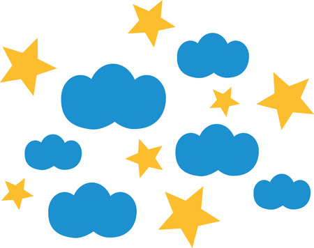 predicting: Clouds with stars Illustration