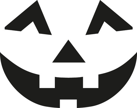 Halloween Kürbis Gesicht Vektorgrafik