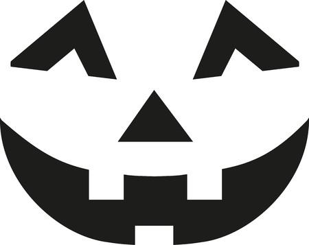 Halloween pumpkin face Vector Illustration
