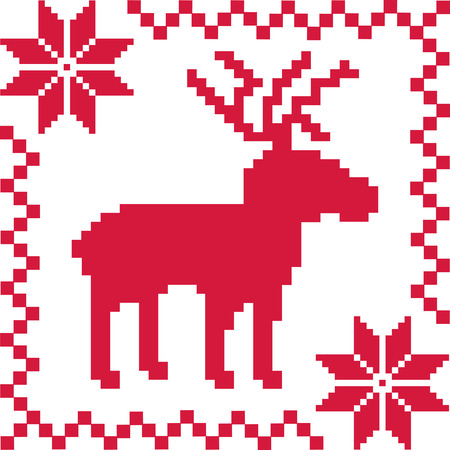 norwegian: Norwegian pattern with deer