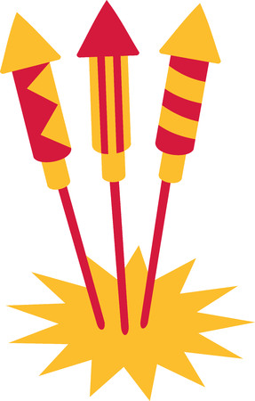 turn of the year: New years eve firework rockets