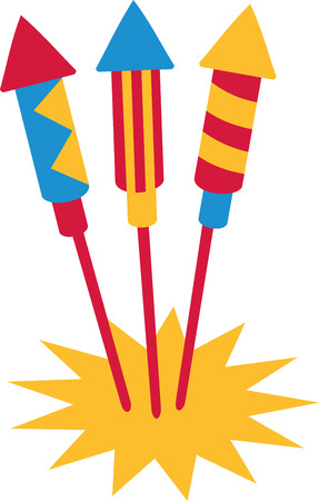 the turn of the year: Three firework rockets
