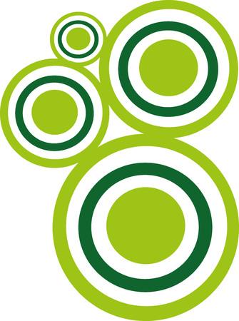 circles: Green abstract modern circles Illustration