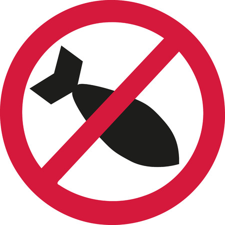 ban sign: No air bombs in ban sign