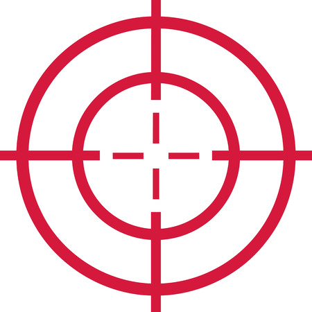 Red target - cross hair Vectores