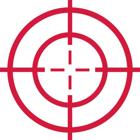 Red target - cross hair Vettoriali
