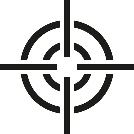 sniper crosshair: Crosshair recticle Illustration