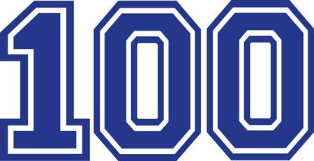 Hundred college number 100