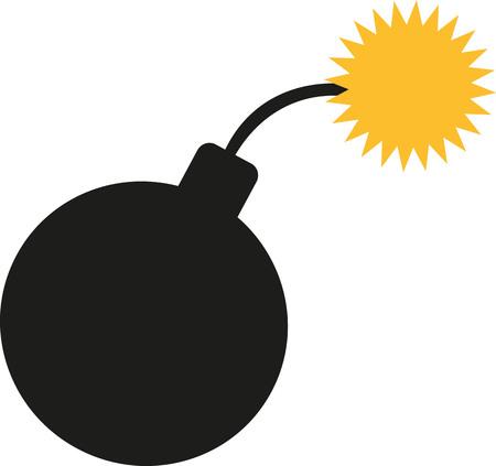 dinamita: icono de bomba de encendido Vectores