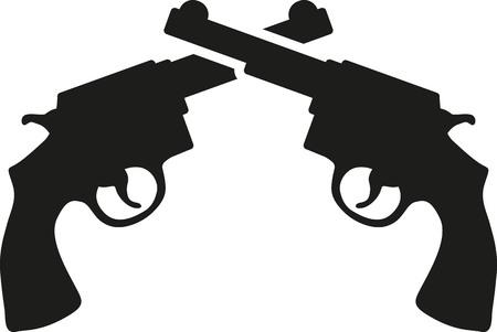 revolver: Crossed revolver guns
