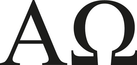 griega alfa y omega signo