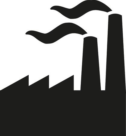 industrial: Industrial building Illustration