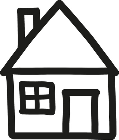 residential homes: House icon handdrawn